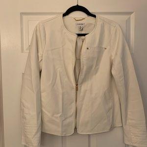 NWT Calvin Klein faux leather jacket